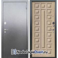 Входная дверь Аргус Люкс АС Серебро антик Сенатор Капучино
