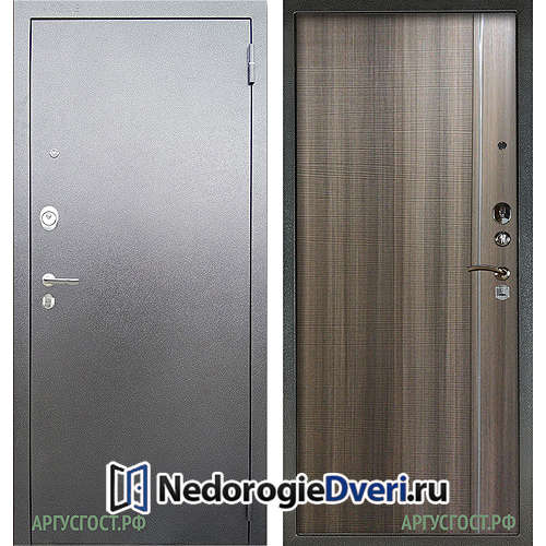 Входная дверь Аргус Люкс АС Серебро антик Гауда Керамика