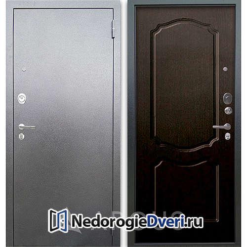Входная дверь Аргус Люкс АС Серебро антик Сонет Венге тисненый