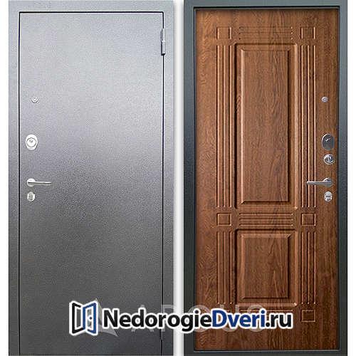 Входная дверь Аргус Люкс АС Серебро антик Триумф Дуб золотой