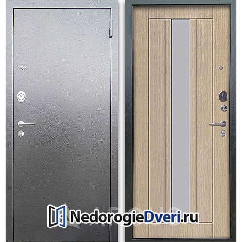 Входная дверь Аргус Люкс АС Серебро антик Владимир Капучино