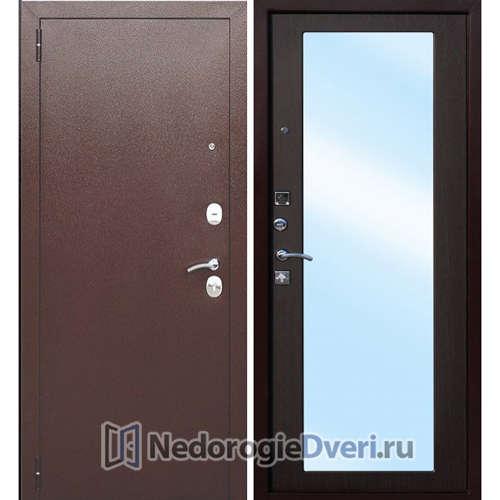 Входная дверь Бастион ZM с зеркалом (в квартиру, в новостройку) Венге