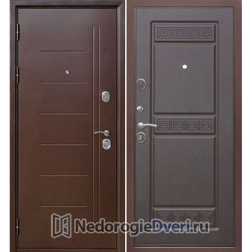 Входная дверь Бастион 100 Т Медный антик Венге