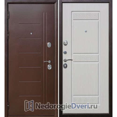 Входная дверь Бастион 100 Т Медный антик Белый ясень