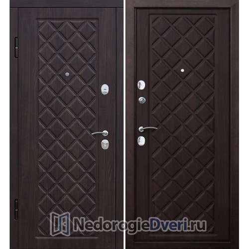 Входная дверь Бастион Ромб Вишня Темная