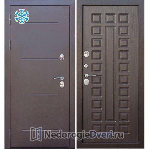 Входная дверь Бастион Термо 110 Медный антик / Венге с терморазрывом