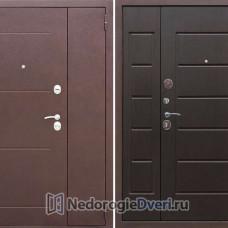 Входная металлическая Двустворчатая дверь Бастион 1200 Венге (Двустворчатая)
