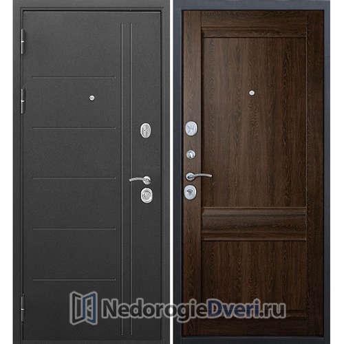 Входная дверь Бастион 100 Т муар Орех сиена
