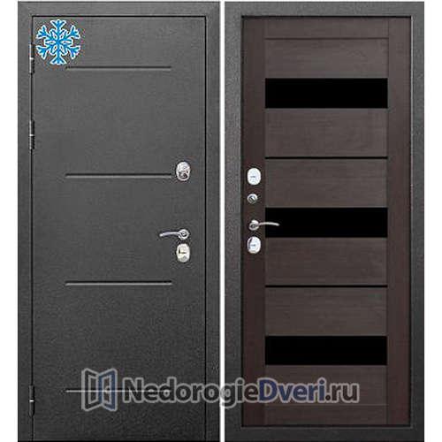 Входная дверь Бастион Термо 110 Серебро Темный кипарис