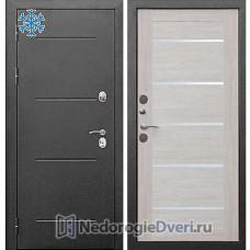 Двери Термо Входная дверь Бастион Термо 110 Серебро Лиственница беж