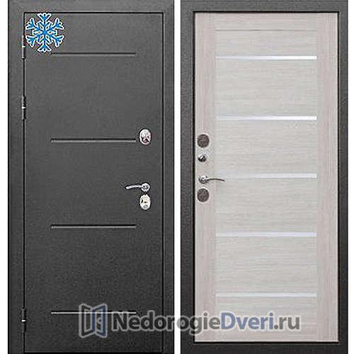 Входная дверь Бастион Термо 110 Серебро Лиственница беж