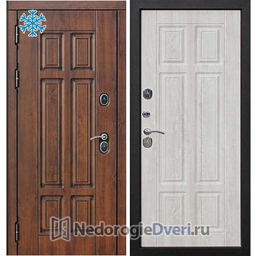 Входная дверь Бастион Термо 130 Сосна белая