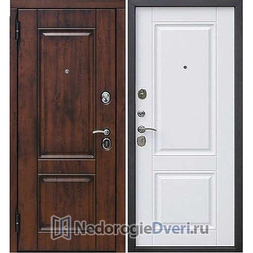 Входная дверь Бастион Вена Грецкий орех/Белый матовый