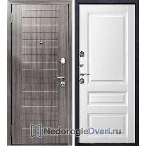 Входная дверь Бастион Гарда 100  Грей / Белый матовый