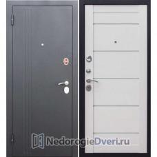 Входная дверь Бастион 7,5 см НЬЮ-ЙОРК Царга Ясень белый эмаль