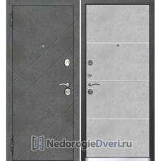 Входная серая дверь Бастион 90 БК ( Серые входные двери ) Бетон