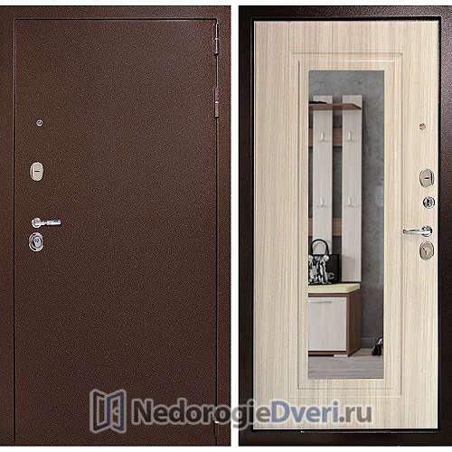 Входная дверь Дверной континент Гарант Зеркало Сандал белый