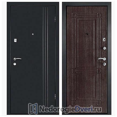 Входная дверь Дверной континент Лайн-1 Венге