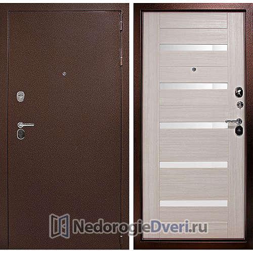 Входная дверь Дверной континент Гарант Царга Сандал белый