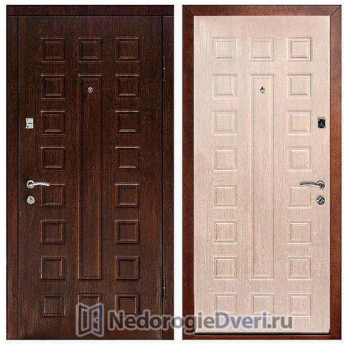 Входная дверь Дверной континент Люкс Беленый дуб