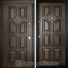 Входная дверь Дверной континент Парус Темный орех