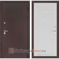 МЕТАЛЛИЧЕСКАЯ ДВЕРЬ ЛАБИРИНТ CLASSIC 06 (АНТИК МЕДНЫЙ / БЕЛОЕ ДЕРЕВО)