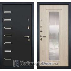 Металлическая дверь Лекс Витязь (№23 Беленый дуб с зеркалом)
