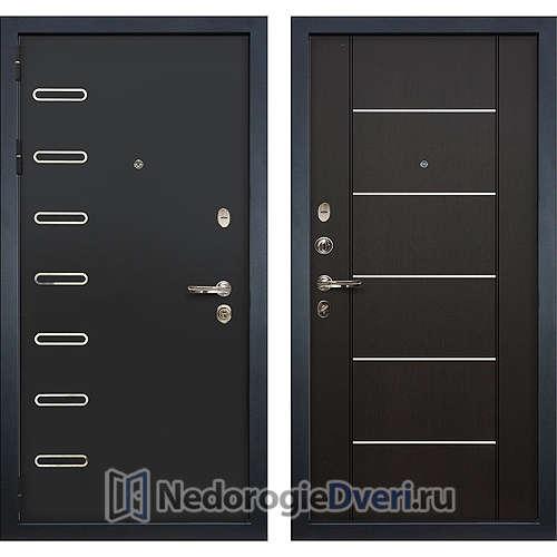 Металлическая дверь Лекс Витязь (№24 Венге с молдингом)