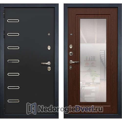 Металлическая дверь Лекс Витязь (№30 Береза мореная с зеркалом)