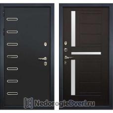 Металлическая дверь Лекс Витязь (№35 Венге с матовым стеклом)