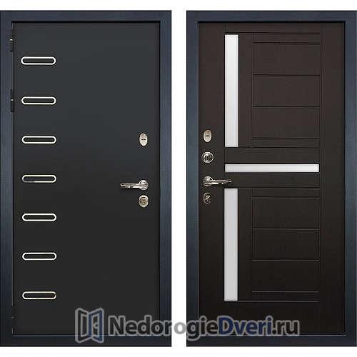 Входная дверь Лекс Витязь (№35 Венге с матовым стеклом)