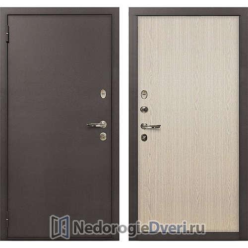 Входная дверь Лекс 1А Медный Антик (№1 Беленый дуб)