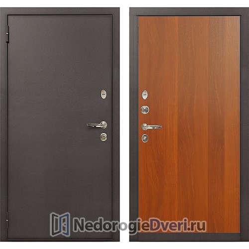 Входная дверь Лекс 1А Медный Антик (№3 Итальянский орех)