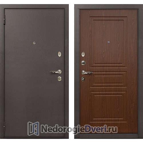 Входная дверь Лекс 1А Медный Антик (№19 Береза мореная)