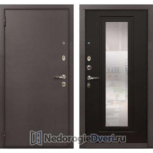 Входная дверь Лекс 1А Медный Антик (№22 Венге с зеркалом)
