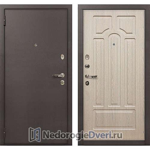 Входная дверь Лекс 1А Медный Антик (№25 Беленый дуб)