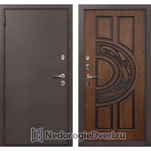Входная дверь Лекс 1А Медный Антик (№27 Golden патина чёрная)