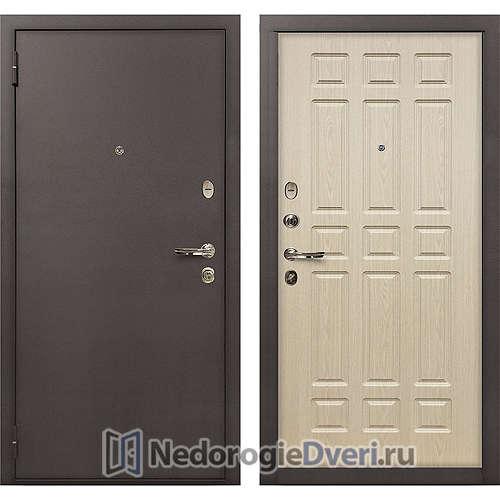 Входная дверь Лекс 1А Медный Антик (№28 Беленый дуб)
