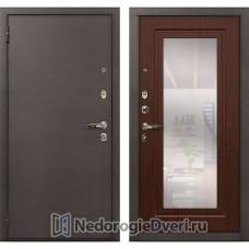 Входная дверь Лекс 1А Медный Антик (№30 Береза мореная с зеркалом)
