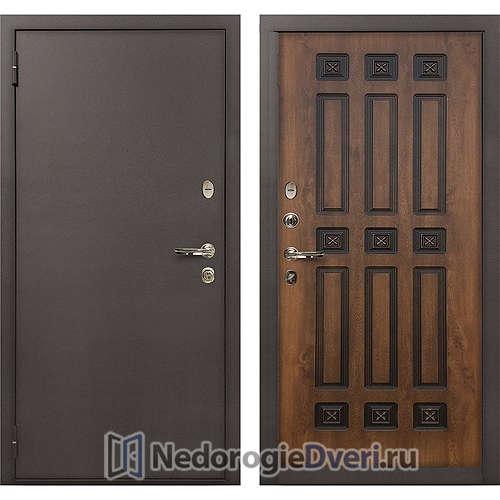 Входная дверь Лекс 1А Медный Антик (№33 Golden патина чёрная)