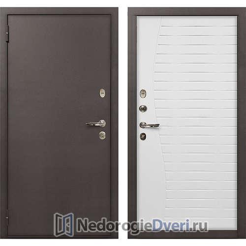 Входная дверь Лекс 1А Медный Антик (№36 Белый ясень)