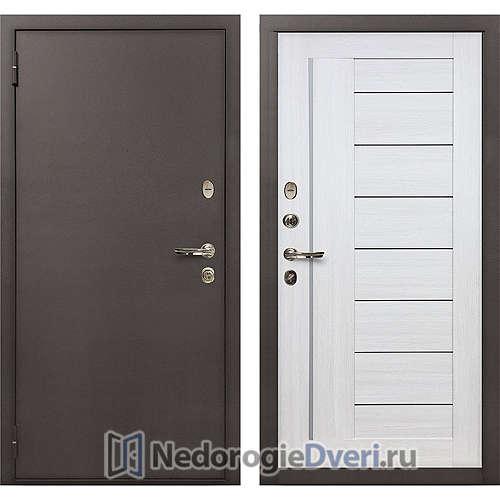 Входная дверь Лекс 1А Медный Антик (№38 Беленый дуб)