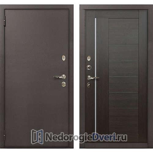 Входная дверь Лекс 1А Медный Антик (№39 Венге)