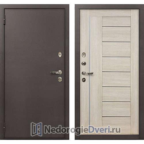 Входная дверь Лекс 1А Медный Антик (№40 Ясень кремовый)