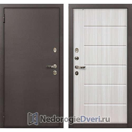 Входная дверь Лекс 1А Медный Антик (№42 Сандал Белый)
