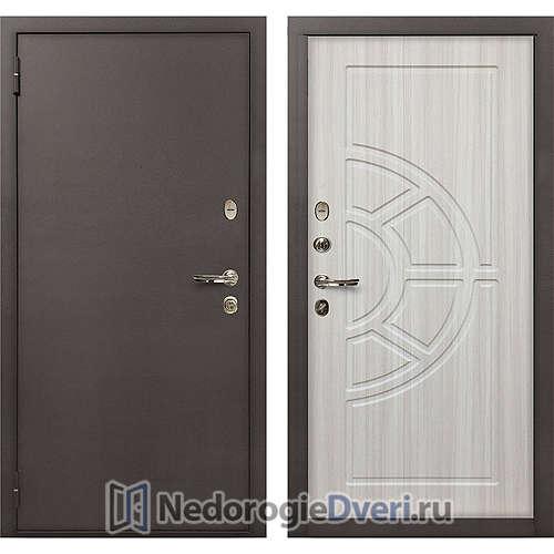 Входная дверь Лекс 1А Медный Антик (№44 Сандал белый)