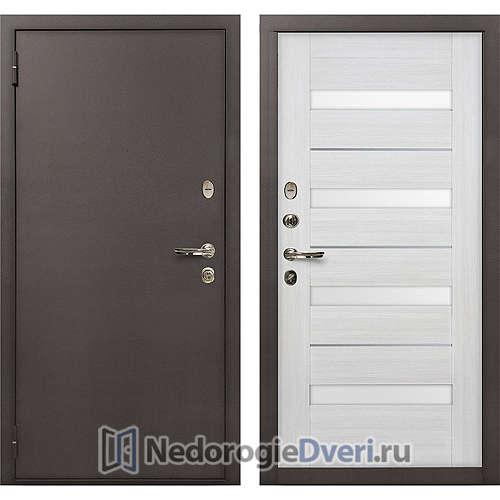 Входная дверь Лекс 1А Медный Антик (№46 Беленый дуб)