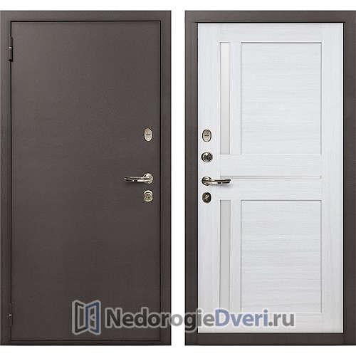 Входная дверь Лекс 1А Медный Антик (№47 Беленый дуб)