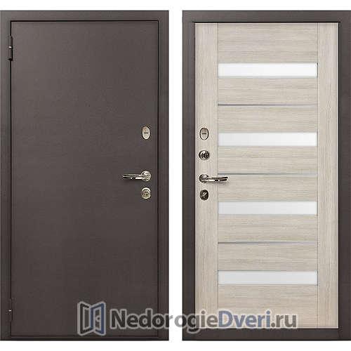 Входная дверь Лекс 1А Медный Антик (№48 Ясень кремовый)
