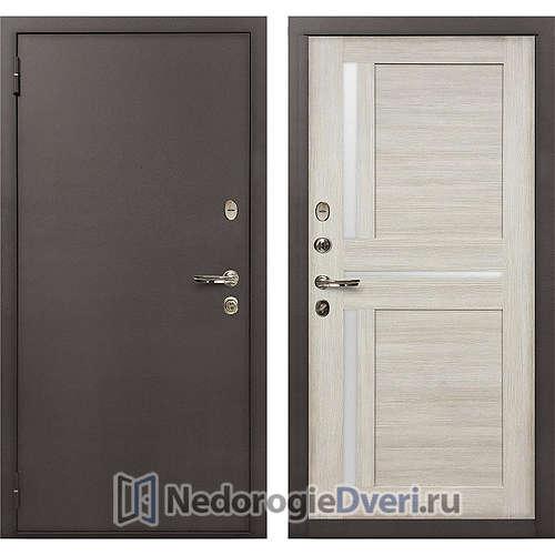 Входная дверь Лекс 1А Медный Антик (№49 Ясень кремовый)